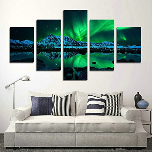 Blxecky DIY 5D Diamond Painting Cross Stitch Crafts Kit, 5 sets of splicing paintings. Home living room decoration. aurora