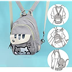 Japanese Game Neko Atsume ねこあつめ Cute Cat Anime Multifunctional Shoulder bag School Backpack Knapsack