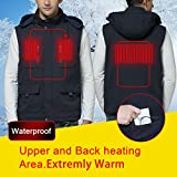 Autocastle Men's Rechargeable Electric Battery Heated Puffer Down Vests