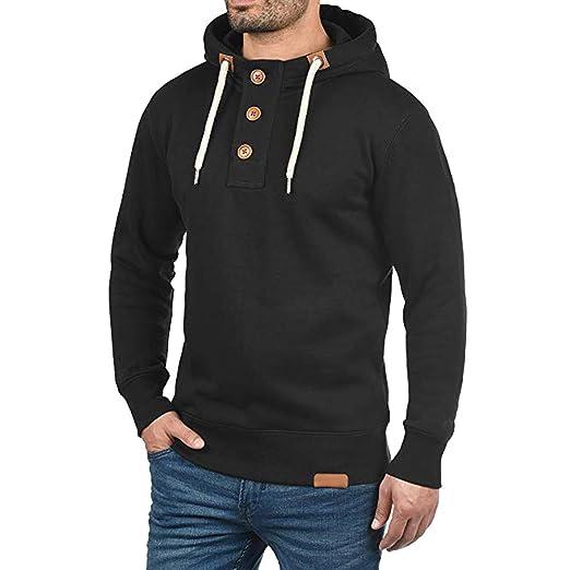 7be46cdb9f Emerayo Jackets Men Winter Waterproof,Fashion Trip Men Hooded Pullover  Hoodie Sweater Buttons Sweatshirt Coat