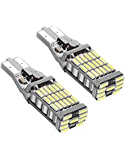 Rayhoo 2pcs 1000 lumens Extremely Bright Canbus Error Free 921 912 T10 T15 AK-4014 45pcs Chipsets LED Bulbs Only for Backup Reverse Lights, Xenon White 6000K