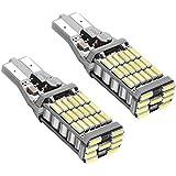 Rayhoo 2pcs 1000 lumens Extremely Bright Canbus Error Free 921 912 T10 T15 AK-4014 45pcs Chipsets LED Bulbs For Backup Reverse Lights, Xenon White 6000K