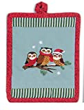 Christmas Critters Embroidered Potholder