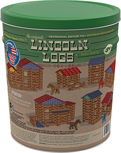 Review LINCOLN LOGS – Centennial Edition Tin – 153 Pieces – Ages 3+ – Preschool Education Toy