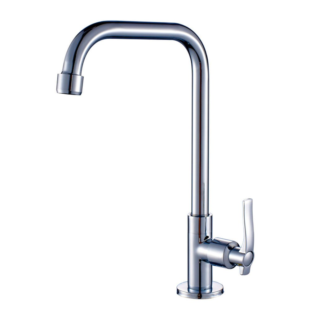 Bijjaladeva Antique Kitchen Sink Mixer Tap All Copper Single Handle Single Hole Kitchen Faucet Cold Water to wash Dishes pots