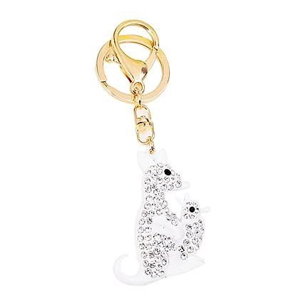 TOYMYTOY Canguro Llavero Animal Exquisito Crystal Keyring ...