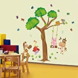 Large Nursery Wall Decal for Kids| Removable Tree Wall Art Decals| Wall Decor Stickers| Vinyl Wall Stickers