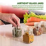 3 oz Small Glass Jars With Airtight Lids, Glass