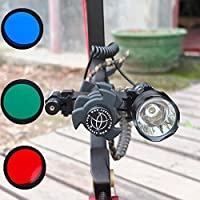 YanNuo Tactical Archery Compound Bow Stabilizer Damper 1200LM Flashlight Red Dot laser Kit