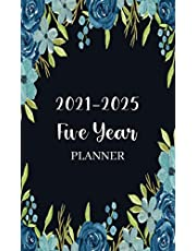 Five Year Planner 2021-2025: 5 year Monthly Calendar Planner January 2021 Up to December 2025 For To do list Planners And 60 Months small Gift Flower Notebook Pocket Academic Agenda Schedule for time management (Purse Pocket Planner 2021-2025)