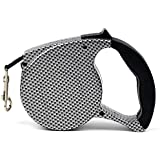 Woolala Retractable Dog Leash Various Colors Choosing, Around 16.5' Polishing Plastic Body with Automatic Dacron Leash, Running Traction Belt Pet Hauling Cable Leads, Mosaic