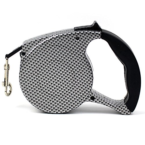 Woolala Retractable Dog Leash Choosing, Around 16.5' Polishing Plastic Body with Automatic Dacron Leash, Running Traction Belt Pet Hauling Cable Leads, Mosaic (Plastic Leash Retractable)