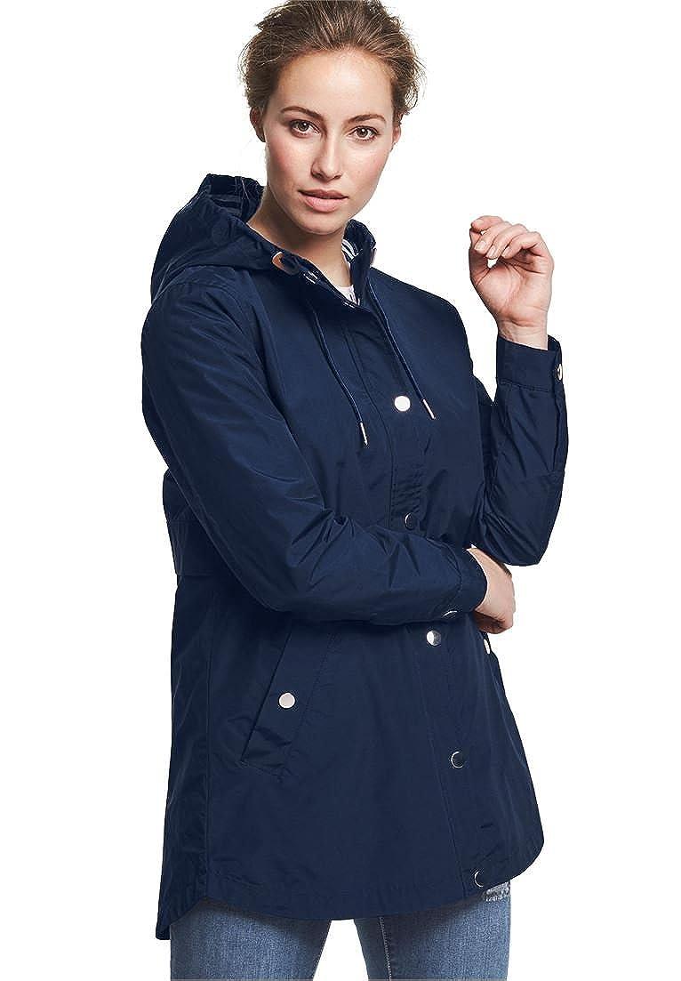 de27c8dd712 Ellos Women s Plus Size Snap-Front Hooded Raincoat  1540966366-60361 ...