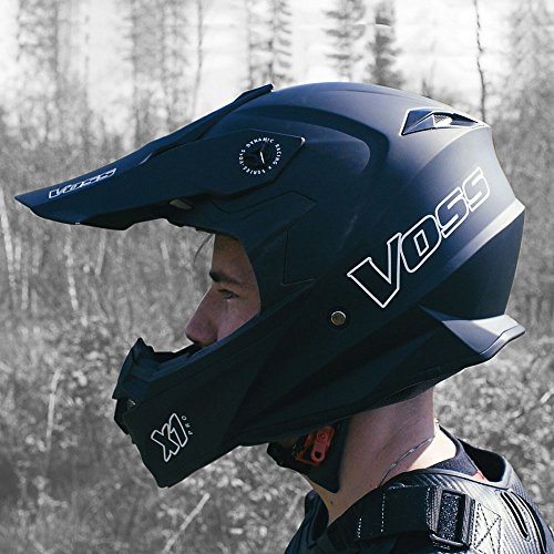 Amazon.com: Voss X1 Pro Motocross Helmet with Quick Release - XL - Matte Black: Automotive