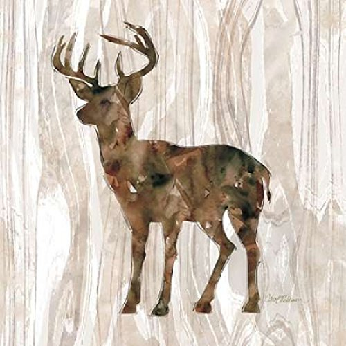 Pine Forest Deer Poster Print by Carol Robinson