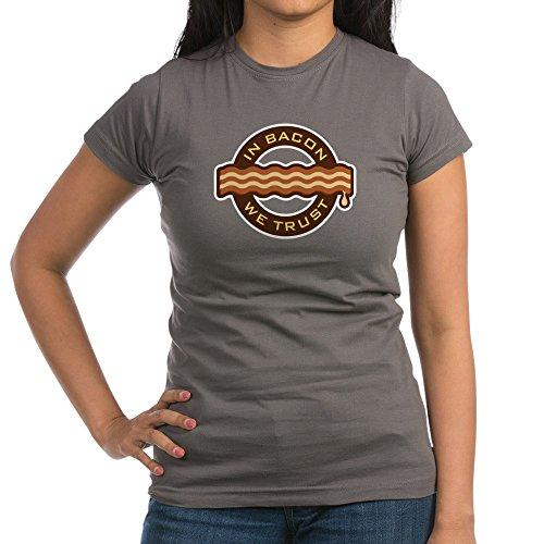 Royal Lion Junior Jr. Jersey T-Shirt (Dark) In Bacon We Trust Bacon Lover Foodie - Asphalt, Medium ()