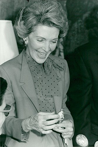 Vintage photo of Nany Reagan receives eggs for annual Easter competitions