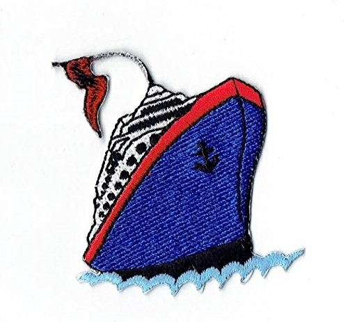 Cruise Ship Liner Iron on Embroidered - Cruise Patch