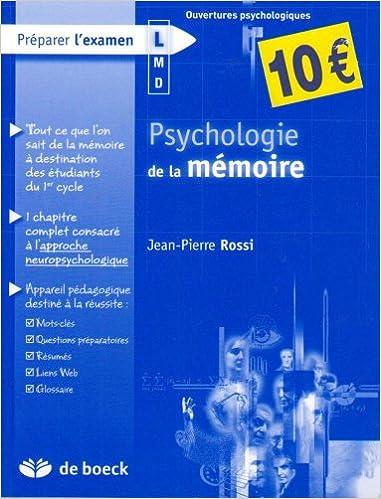 Livre Psychologie de la mémoire pdf
