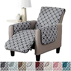 Great Bay Home Liliana Collection Deluxe Reversible Stain Resistant Furniture Protector with Printed Pattern. Includes Adjustable Elastic Straps. by Brand.