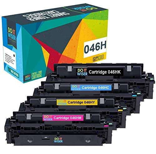 Do it Wiser Compatible Toner Cartridge Replacement for Canon 046 046H for use in Canon Color ImageCLASS MF733Cdw, ImageCLASS MF731Cdw, MF735Cdw LBP654Cdw Printer (Black Cyan Magenta Yellow, 4-Pack) ()