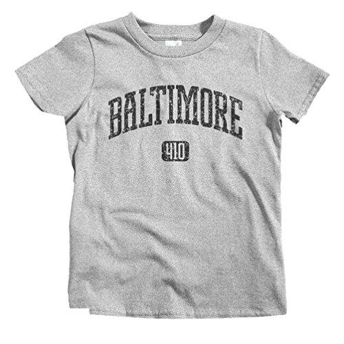 - Smash Transit Kids Baltimore 410 T-Shirt - Heather Gray, Youth Small