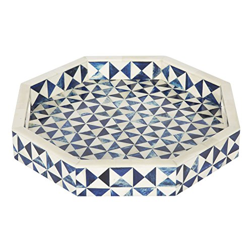 Handicrafts Home 12x12 Octagon Multi Decorative Tray Breakfast Coffee Table Top Vintage Handmade Serving Tray from