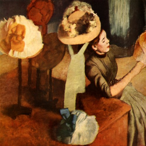 THE MILLINERY SHOP TABLE WITH HATS FASHION MODISTE 1885 FRENCH BY EDGAR DEGAS PRINT REPRO