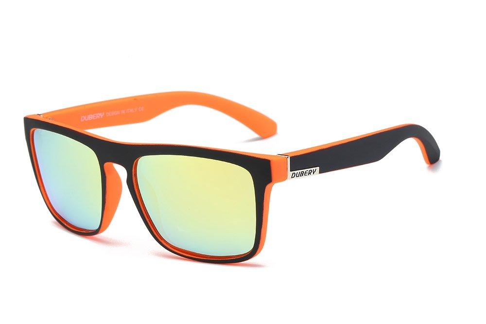 DUBERY Men's Polarized Sunglasses Aviation Driving Men Women Sport Glasses New Hot (#6) by DUBERY