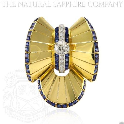 Diamond & Sapphire Brooch - 1