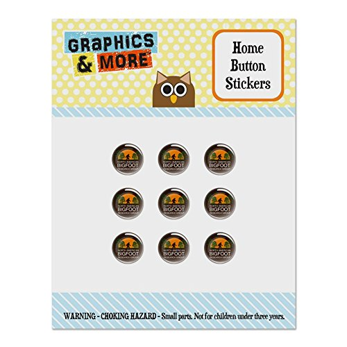 Button Bigfoot Mini (North American Bigfoot Research Group Set of 9 Puffy Bubble Home Button Stickers Fit Apple iPod Touch, iPad Air Mini, iPhone 5/5c/5s 6/6s 7/7s Plus)