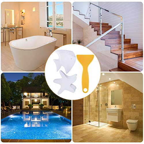 S/&X Non-Slip Bath Stickers,Grippy Dolphin Adhesive Safety Treads for Bathtubs//Showers//Pools//Bathrooms//Staris,4.7 X 3.9,12Pcs Per Pack 4.7 X 3.9