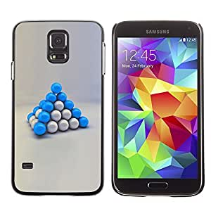 GagaDesign Phone Accessories: Hard Case Cover for Samsung Galaxy S5 - Blue Balls