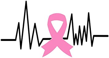 Breast Cancer Ribbon Decal Window//Mirror//Car//Truck//Sticker