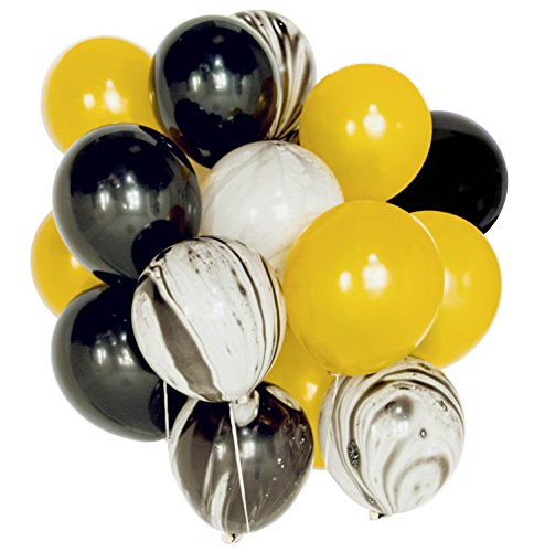 Gold and Black Agate Mix Latex Party Decoration Marble Balloon 30pcs Thick 12