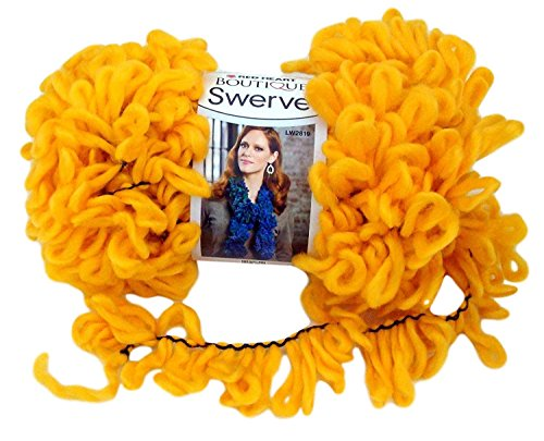 Red Heart Boutique Swerve Yarn Golden 3pk (By Yarn Red Swerve Heart)