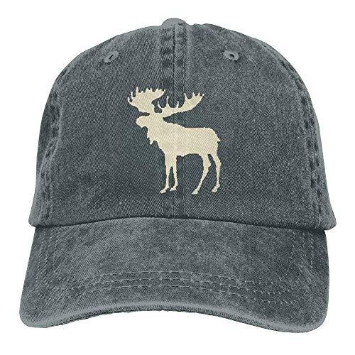 - Baseball Caps Plaid Moose Buffalo Denim Comfort Visor Hip Hop Cap Dad Hat