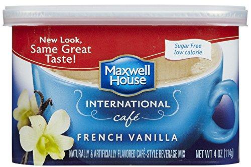 Maxwell House International Sugar Free French Vanilla Cafe - 4 oz