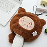 work on me the brown singers - UNAKIM--Hand Warmer USB Warm Mouse Pad Heater Wrist Rest Washable Recharbeable 5Colors (A)