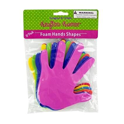 Amazon Com Kids Home Craft Project Foam Craft Hands Case Of 24