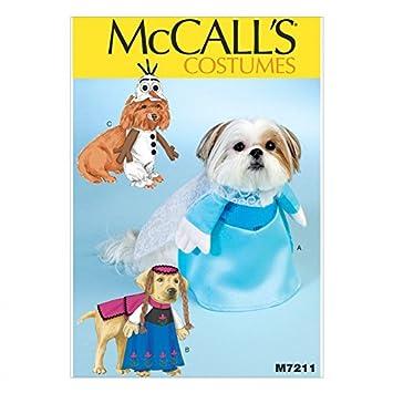 McCall \'s Schnittmuster 7211 Hund Coats Frozen Kostüme + Gratis ...