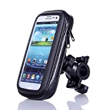 "Eximtrade Universal Waterproof Bike Mount Phone Holder Pouch for Smartphones and GPS (For Smartphone 5.5"")"