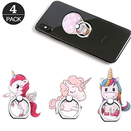 Phone Ring Holder Stand,Unicorn Phone Ring Stand Holder 360 Rotation Finger Ring Grip Stand for Cellphones,Smartphones and Tablets from RRJQW