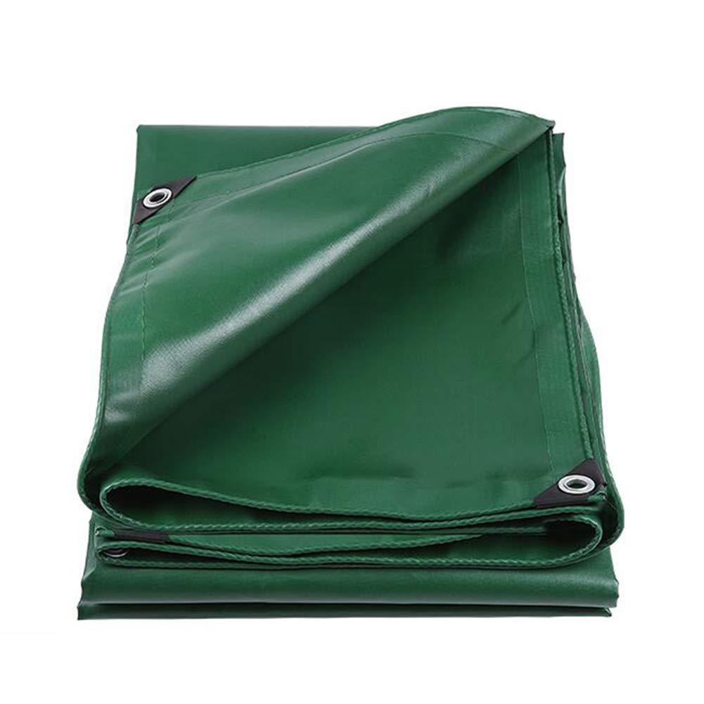DALL ターポリン ヘビーデューティー ターポリン アウトドア 耐寒性 防水 UVプロテクト 550g / m2 (色 : Green, サイズ さいず : 4*5m) 4*5m Green B07KPTDQK2