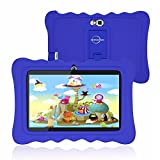 Tablet for Kids, 7 Inch Kid Edition Tablets Android 9.0 with WiFi, 2+16GB, Parental Control, Preloaded Learning & Training Apps, Games and Kid-Proof Case (Blue)