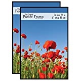 MCS 24x36 Original Poster Frame in Black with Pressboard Back & Styrene Glazing (2 Pack)