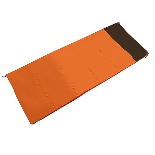 ZXQZ Saco de dormir portátil caliente del sueño de la bolsa de dormir del saco de dormir solo saco de dormir Saco de dormir momia (Color : Naranja) : ...