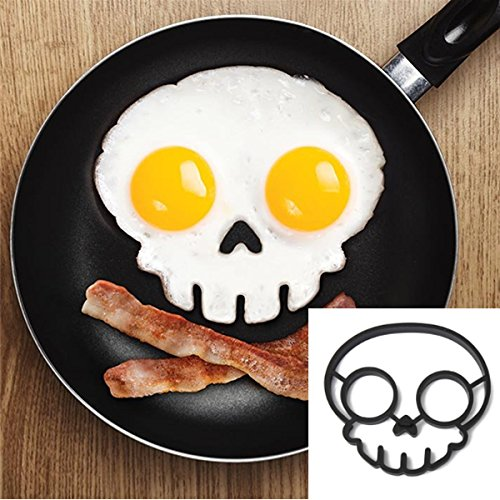 Silicone Skull Egg Frying Mold Breakfast Pancake Mould NAVA-12