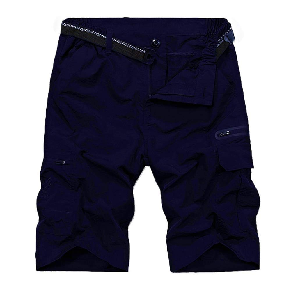 Men's Outdoor Tactical Shorts Lightweight Expandable Waist Cargo Shorts with Multi Pockets Quick Dry Water Resistant,6222,Navy, US 32 by Toomett