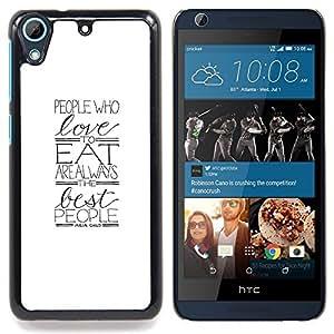 For HTC Desire 626 & 626s - love gift minimalist food foodie /Modelo de la piel protectora de la cubierta del caso/ - Super Marley Shop -